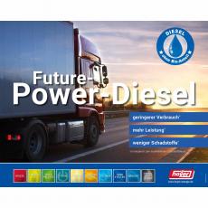 Säulenaufkleber Future-Power-Diesel Aufkleber