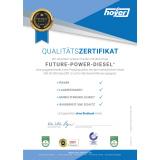Qualitäts-Zertifikat für Future-Power-Diesel