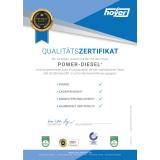 Qualitäts-Zertifikat für Power-Diesel