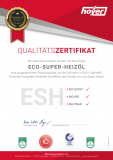 Hoyer Qualitäts Zertifikat ECO-Super-Heizoel ESH Neu